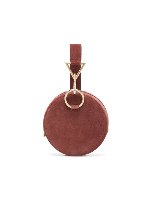 Tara Zadeh Brown Azar Suede Bracelet Bag - Farfetch