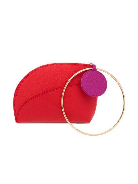 Roksanda Red Small Eartha Ring Leather Clutch - Farfetch