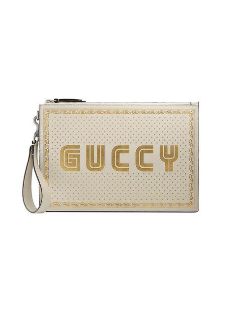 Gucci Guccy Leather Pouch - Farfetch