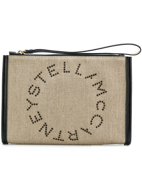 Stella McCartney Eyelet Logo Clutch - Farfetch
