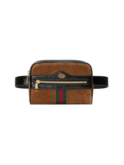 Gucci Brown Ophidia Small Suede Belt Bag  - Farfetch