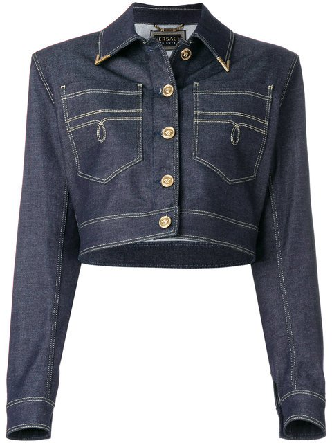Versace Structured Denim Jacket - Farfetch
