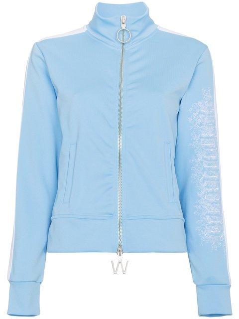 Off-White Blue Zip Front Sports Jacket - Farfetch