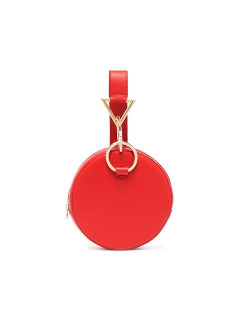 Tara Zadeh Red Azar Leather Bracelet Bag - Farfetch