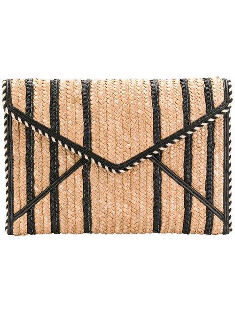 Rebecca Minkoff Striped Envelope Clutch Bag - Farfetch