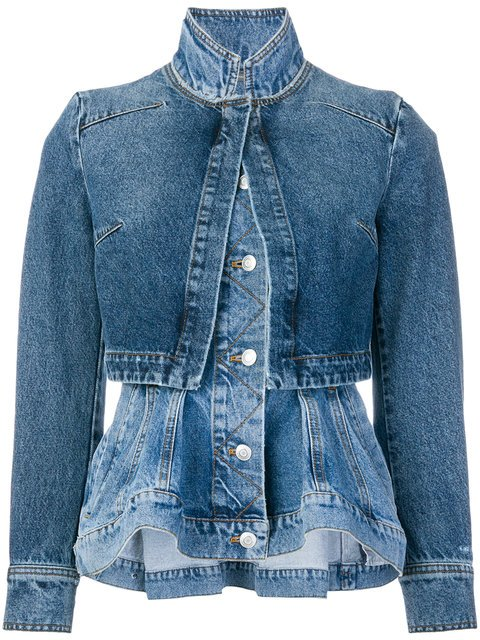 Alexander McQueen Layered Denim Jacket - Farfetch