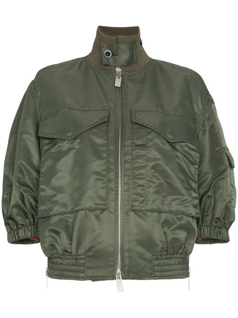 Sacai Oversized Two Pocket Bomber Jacket  - Farfetch