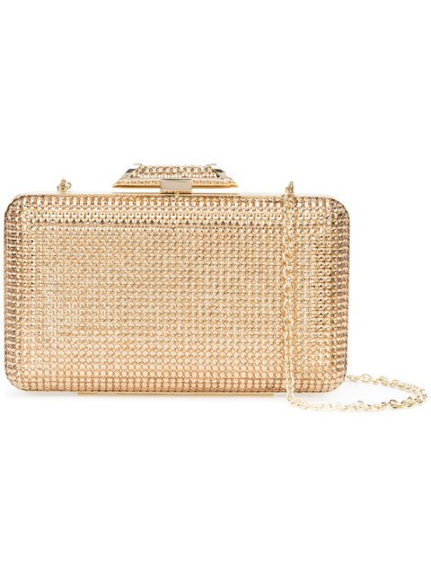 Inge Christopher Metallic Box Clutch - Farfetch