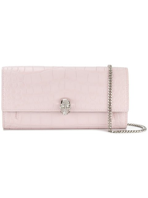 Alexander McQueen Skull Chain Clutch Bag - Farfetch
