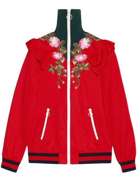 Gucci Embroidered Technical Jersey Jacket - Farfetch