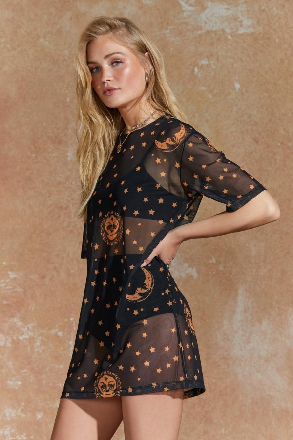 See It in Your Stars Mesh Dress