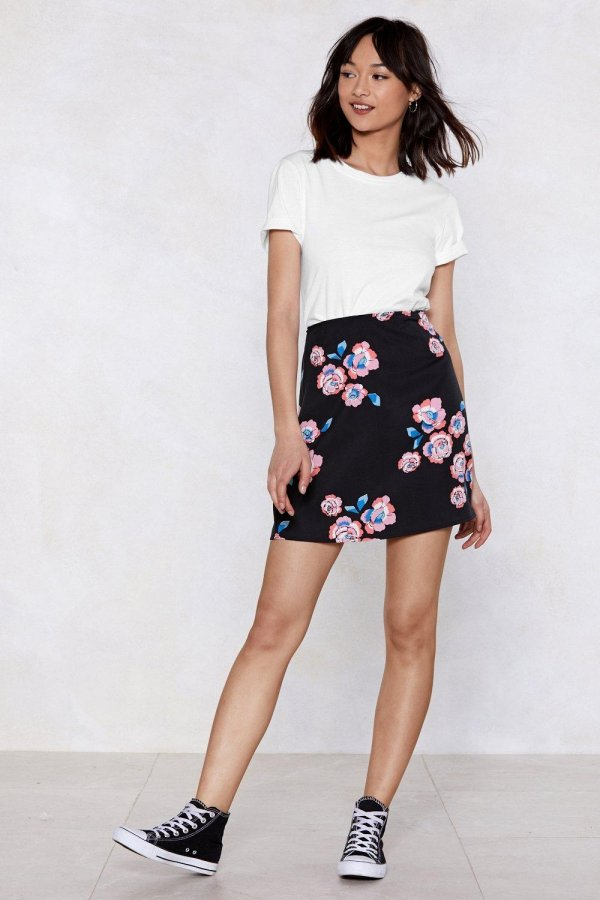 Chill Babe Floral Skirt