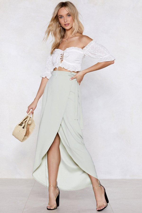 We Like Wraps Midi Skirt