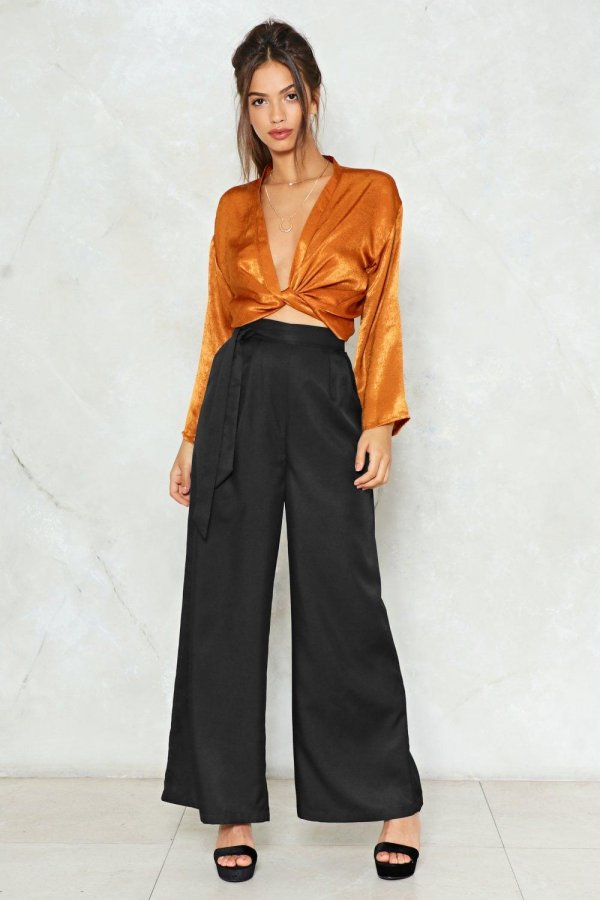 Don\'t Kill My Vibe Wide-Leg Pants
