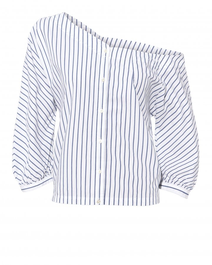 Striped Back Tie Top