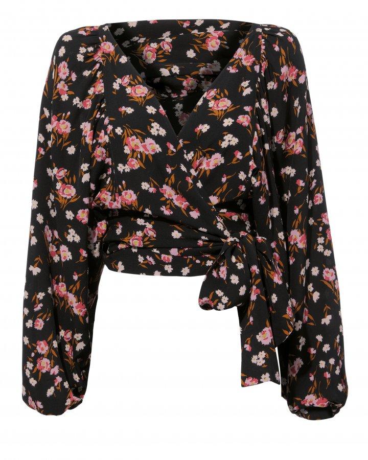 Carla Floral Print Wrap Top