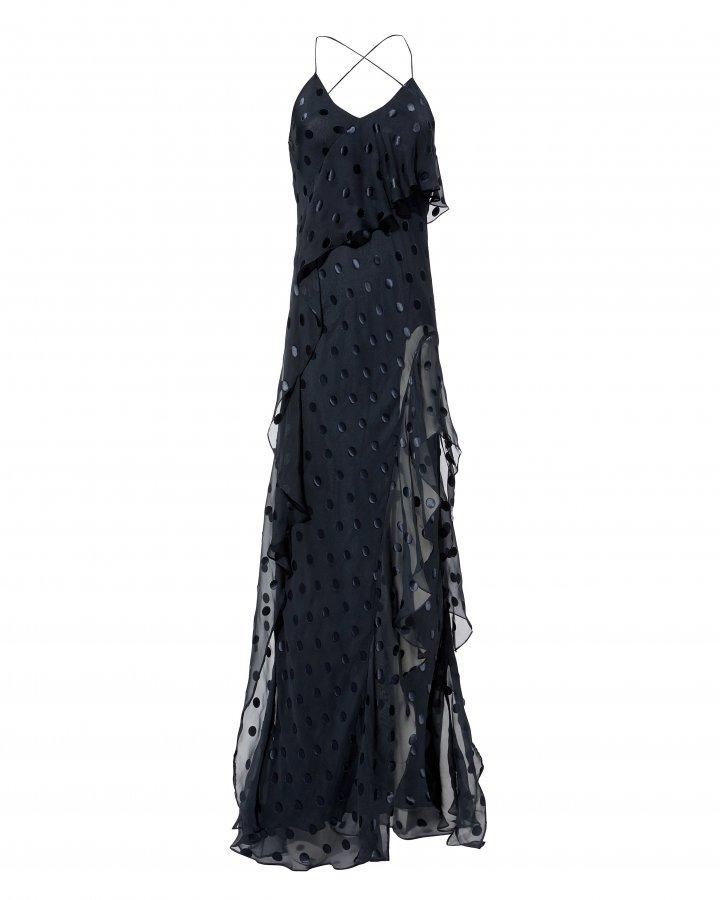 Polka Dot Ruffle Gown