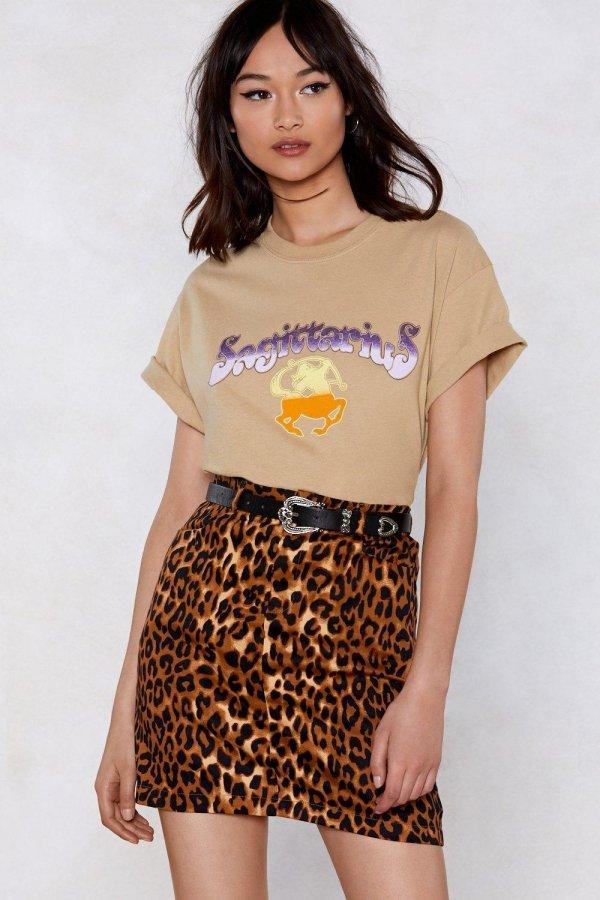 Animal Instincts Leopard Skirt