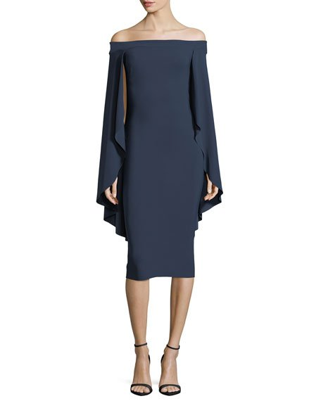Chiara Boni La Petite Robe Francoise Capelet Mermaid Cutout Cocktail Dress