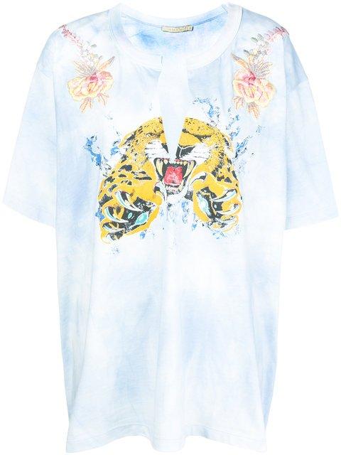 Amen Tie-dye Embroidered T-shirt - Farfetch