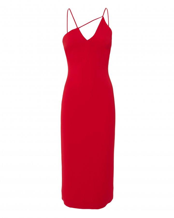 Karina Red Pencil Dress