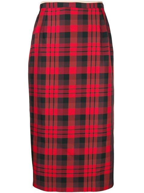Nº21 Tartan Midi Pencil Skirt - Farfetch