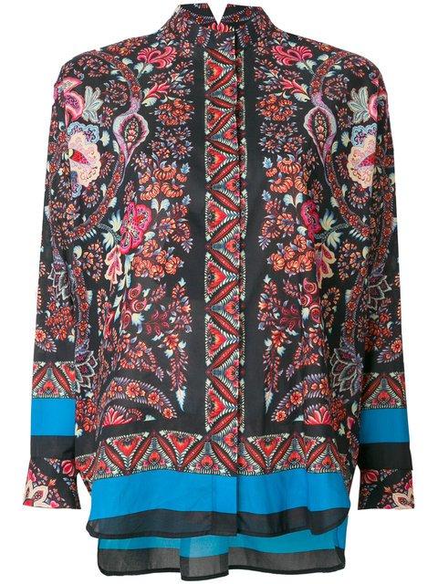 Etro Floral Band Collar Shirt - Farfetch