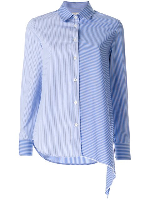 Golden Goose Deluxe Brand Bi-colour Stripe Asymmetric Shirt - Farfetch