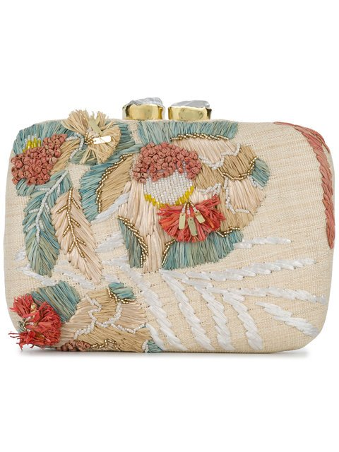 Aranaz Martina Straw Clutch Bag - Farfetch