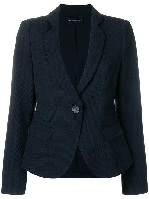 Emporio Armani Slim Cropped Blazer - Farfetch