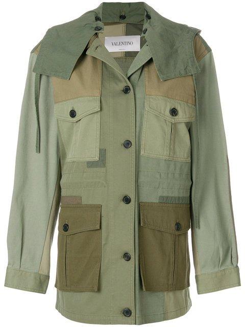 Valentino Patch Army Jacket - Farfetch