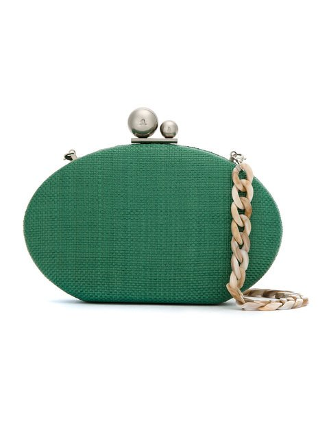Isla Straw Clutch Bag - Farfetch