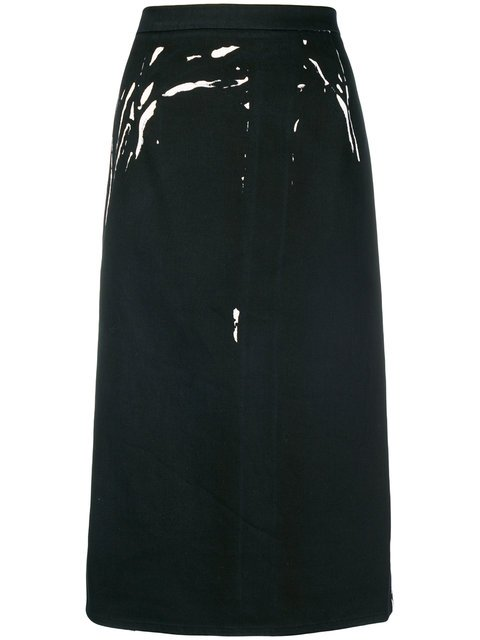 Prada Overprinted Pencil Skirt - Farfetch