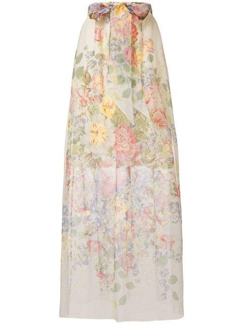 Gucci Floral Print Sheer Skirt - Farfetch