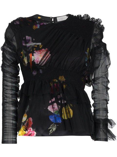 Preen By Thornton Bregazzi Marin Sheer Floral Blouse - Farfetch