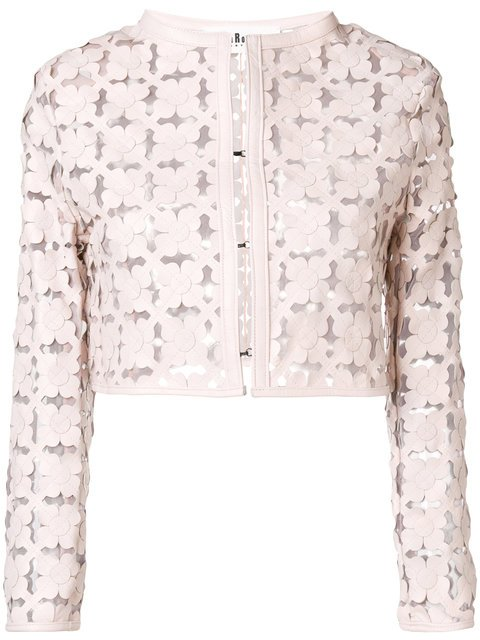 Caban Romantic Laser Cut Floral Bolero - Farfetch