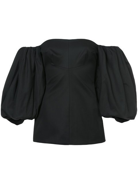 Ellery Puff Sleeves Off The Shoulder Blouse - Farfetch