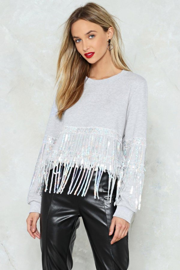 Can\'t Shake It Loose Sequin Sweater