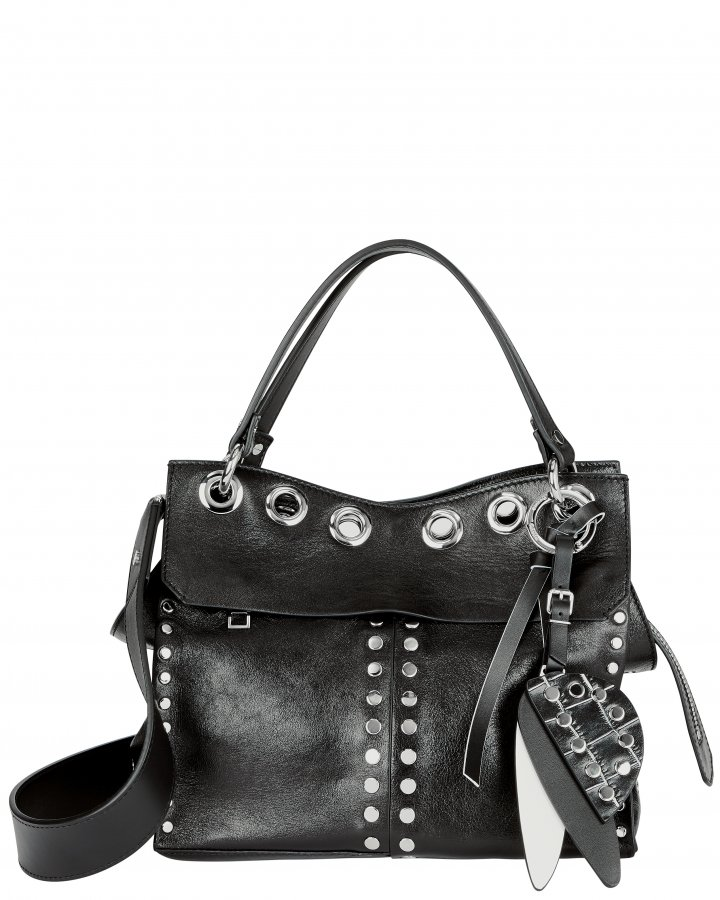 Allover Studded Curl Leather Bag