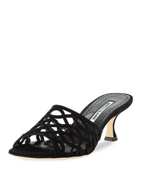 Bensa Cutout Suede Sandal