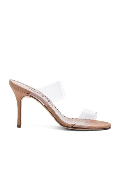 PVC Scolto Sandals in Nude Suede