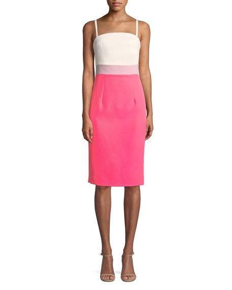 Milly Olie Cutout Stretch-Crepe Dress
