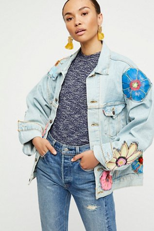 Specialty Floral Denim Jacket