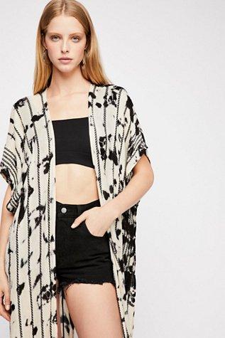 Bombay Stripe Washed Kimono