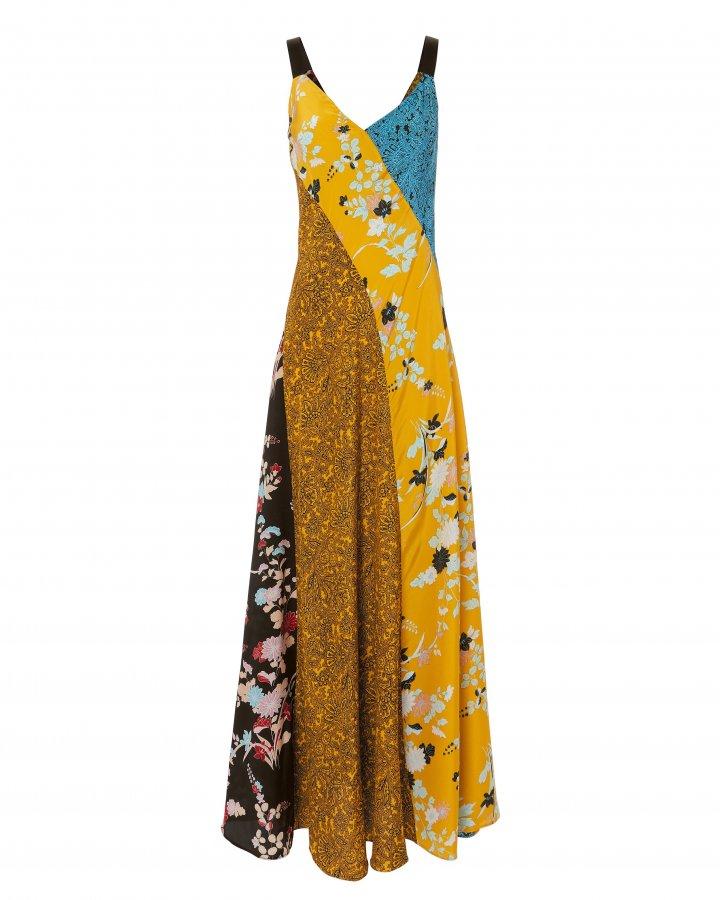 Paneled Slip Maxi Dress
