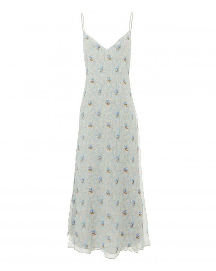 Ruffle Slip Dress