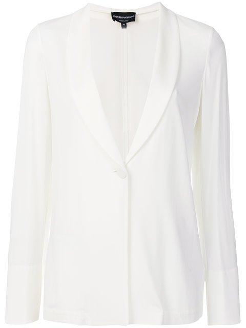 Emporio Armani Shawl Collar Blazer - Farfetch