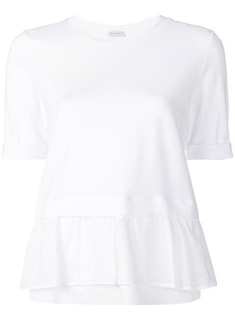 Peserico Peplum Ruffle T-shirt - Farfetch