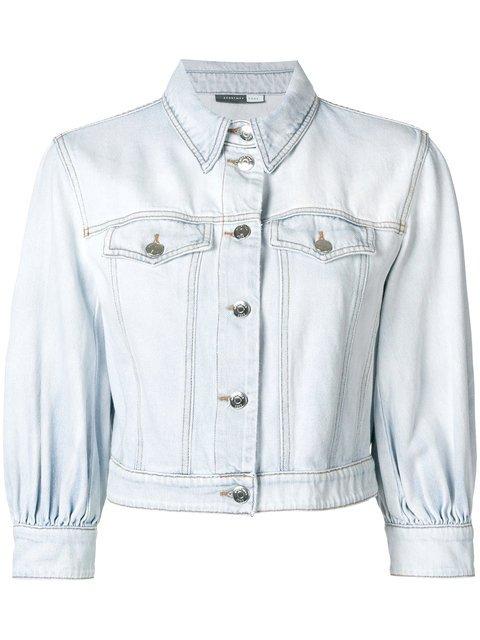 Sport Max Code Cropped Sleeves Denim Jacket  - Farfetch