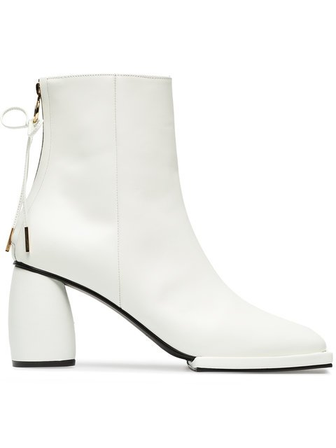 Reike Nen White 80 Square Toe Leather Ankle Boots - Farfetch